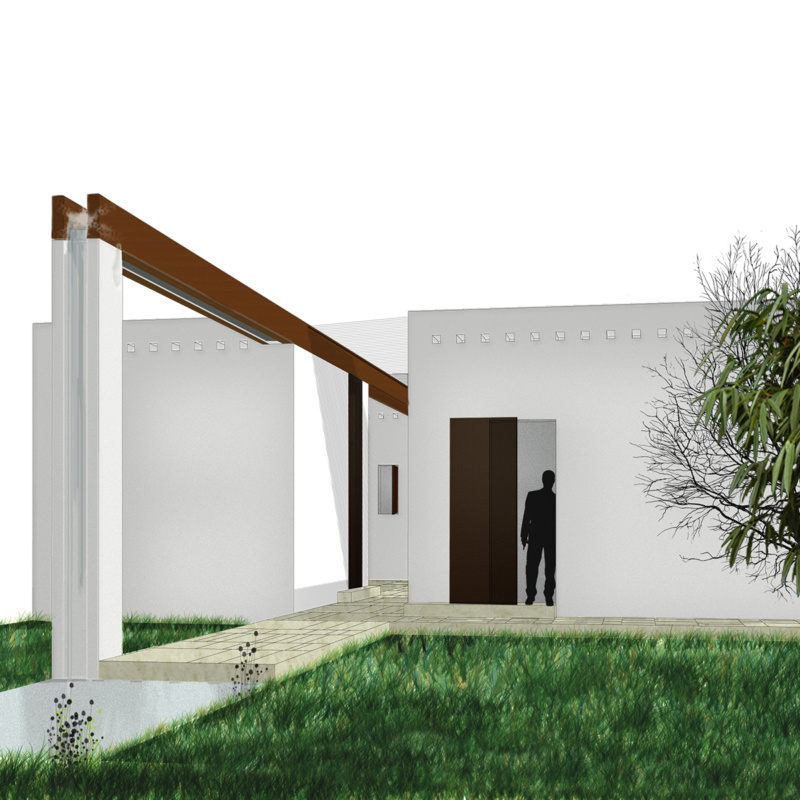A house in Luanda – patio and pavilion